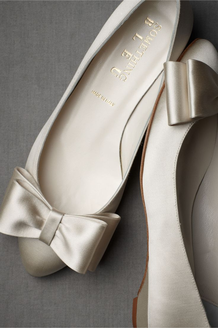 fancy flats - for the bride who wants to be comfortable on her wedding day!