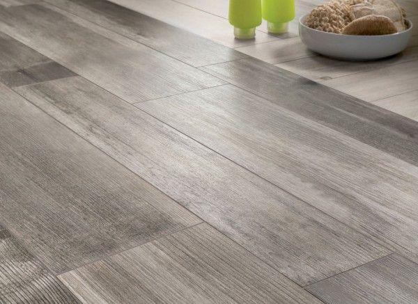 medium grey wooden floor tiles closeup
