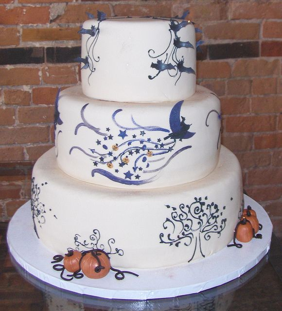 elegant halloween wedding cake by amanda bordine for all your cake decorating supplies please - Halloween Wedding Cakes Pictures