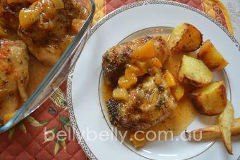 Apricot chicken. Full recipe here: http://www.bellybelly.com.au/recipes-cooking/apricot-chicken-delicious-apricot-chicken-recipe