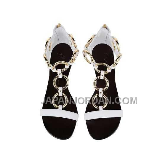 GIUSEPPE ZANOTTI WOMENS FLAT SANDALS 白 100% LEATHER 15MM オンライン, Only¥14,682 , Free Shipping! http://www.japanjordan.com/giuseppe-zanotti-womens-flat-sandals-white-100-leather-15mm.html