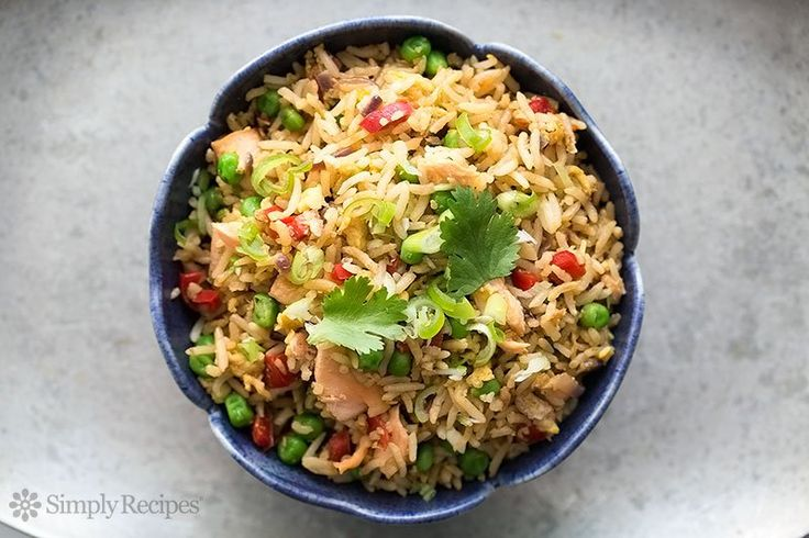 Have leftover rice and cooked salmon? Make salmon fried rice! Comes together in minutes. Easy and so good!