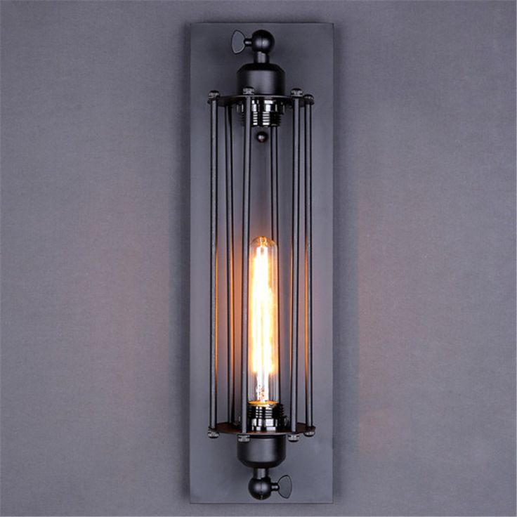 Indoor Wall Lights Antique Chandelier Lighting Lobby Black Wall Sconce Bar Lamp