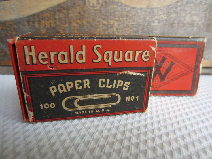 Vintage Woolworth Herald Square Paper Clips by corrnucopia on Etsy https://www.etsy.com/listing/197330558/vintage-woolworth-herald-square-paper