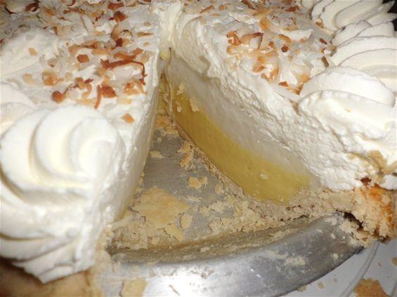 Lilikoi Haupia Pie - www.glennchefhawaii.com