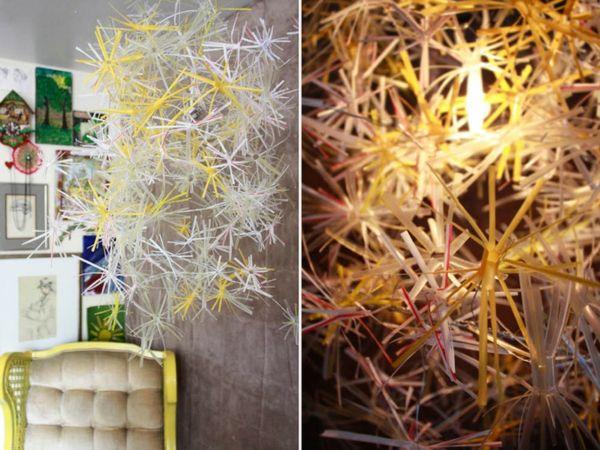 plastik kunst filigrane dekoration strohhalme