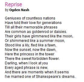 Reprise - Poem by Ogden Nash