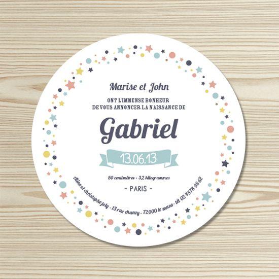 Tannilou - Faire-part naissance GABRIEL