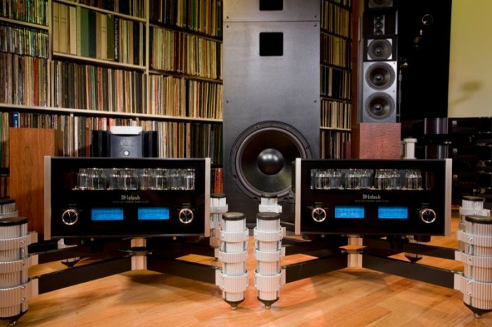 """There are 16 - 18"""" Snell THX Subwoofers in use - extending bass response to 1 Hz."""