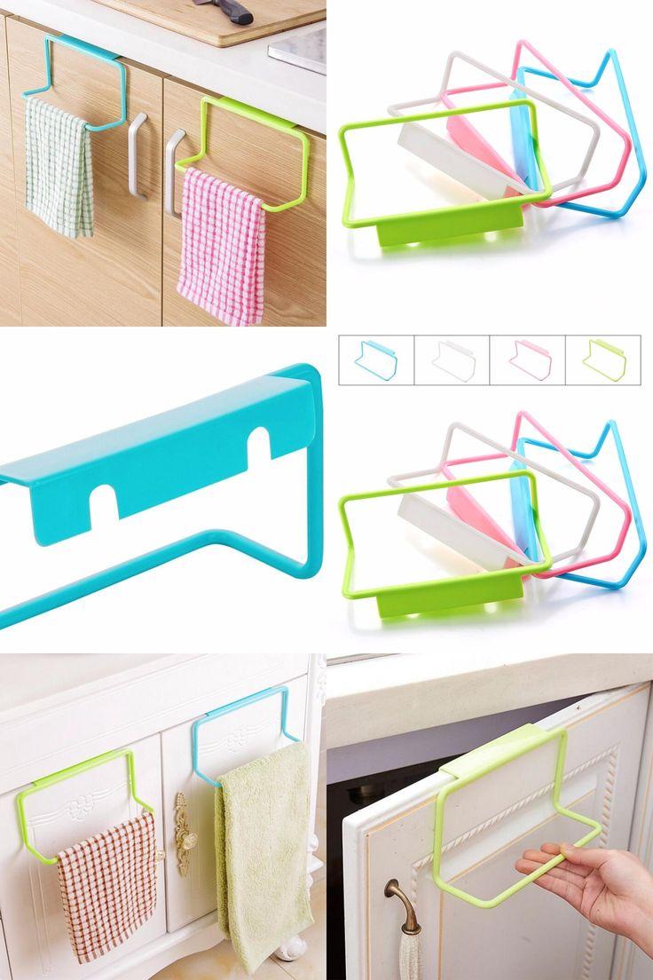 [Visit to Buy] 1Pc New Portable Kitchen Cabinet Over Door Hanging Towel Rack Holder Bathroom Hanger#226217 #Advertisement