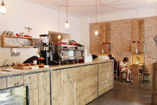 Silo Coffee, Berlin. Great Coffee. Prerequisite reclaimed wood interior. Wifi and power. Nice.