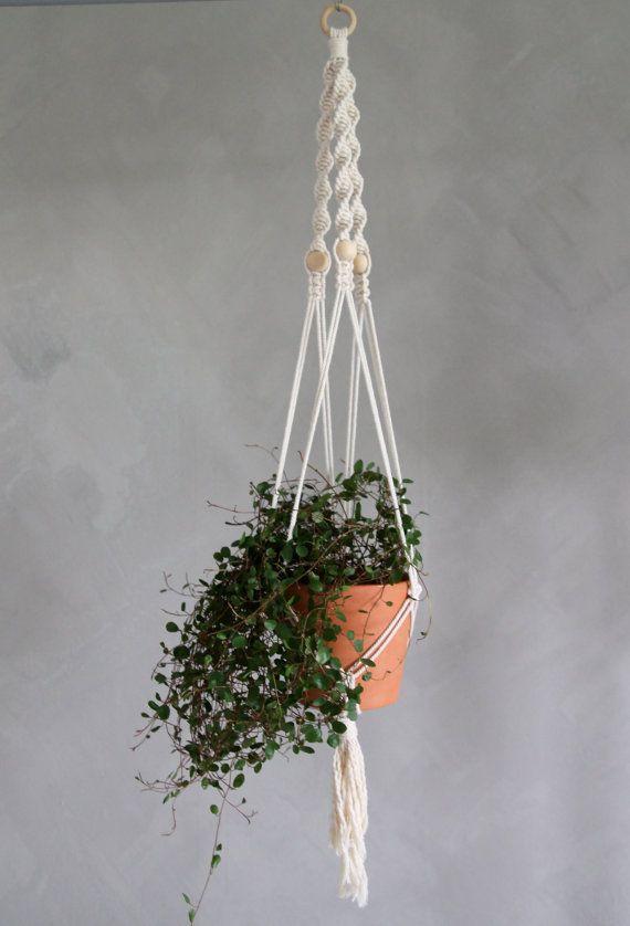 "Macramé Plant Hanger ""Naomi""- By Helga M. on Etsy / Modern macrame / Boho Macrame / Boho decor / handmade macrame / handmade decor / boho interior"