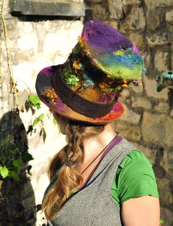 READY to SHIP Magic Felt Top Hat 'Mad Hatter' by Innerspiral