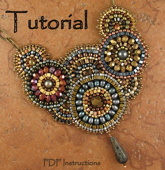 Beading Tutorial  Enchanted Evenings by StickLizardDesigns on Etsy, $10.00