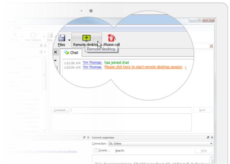 ISL Pronto Live Chat Support Technique