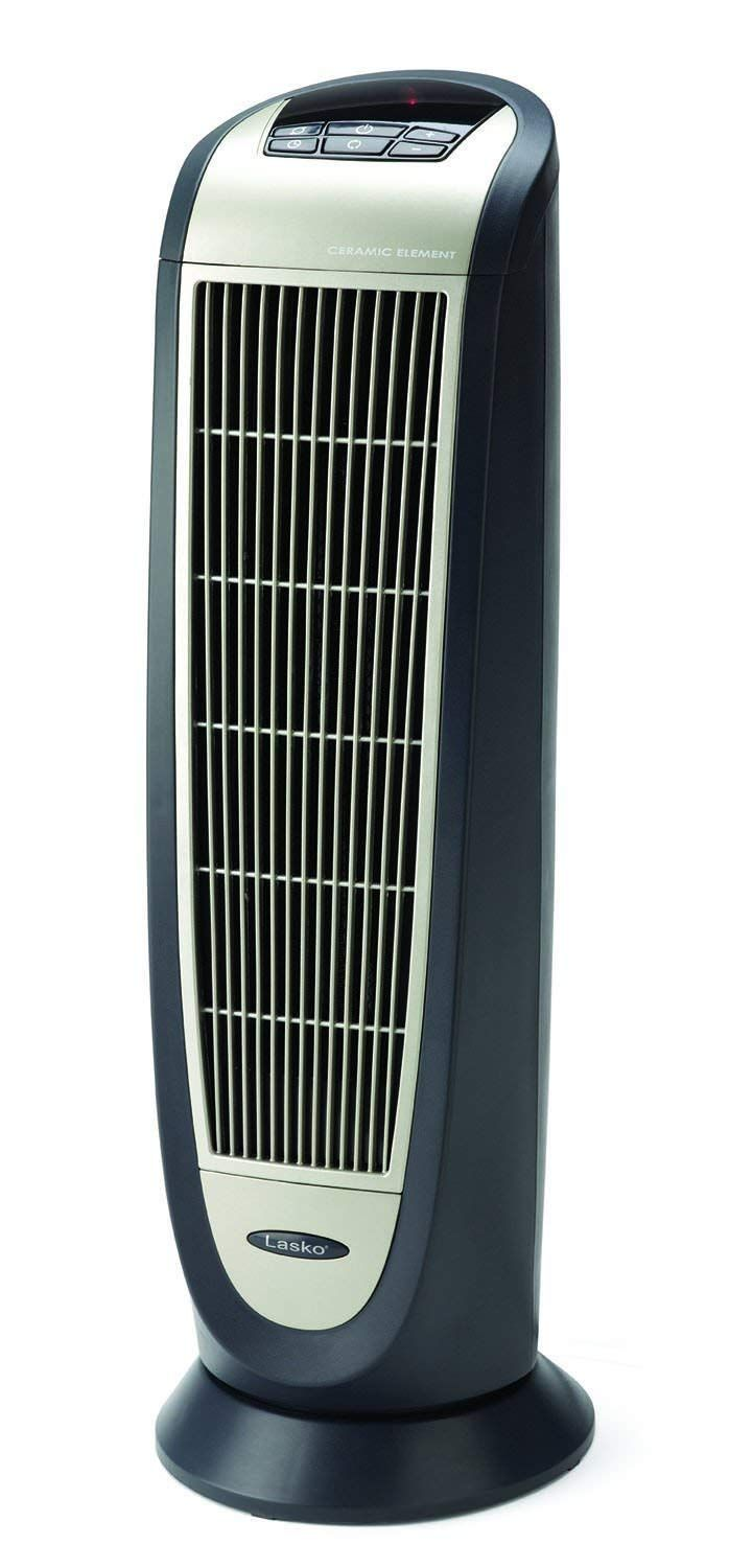 Ceramic Tower Heater This Digital Heater With Silver Grill And Dark Gray Body Features An Elongated Ceramic Heating Element Tower Heater Space Heater Lasko