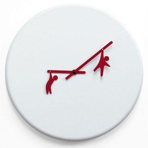 Progetti Time2play Modern White Wall Clock