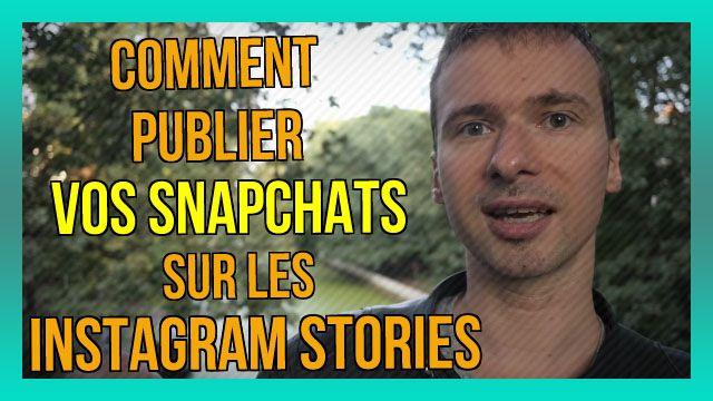 Comment publier vos SNAPCHATS sur les INSTAGRAM Stories (42/365) : https://www.youtube.com/watch?v=2mg5RzsV-m0&index=421&list=PLlNaq4hbeacRenu3pV65ir209cjP6CZph :) #Snapchat #Snapchats #Instagram #Stories