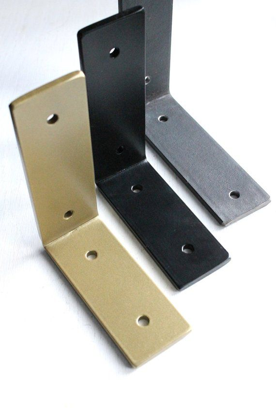 Heavy Duty Bracket L Brackets For Shelf Hardware Included Etsy In 2020 L Bracket Shelves L Brackets Steel Shelf Brackets