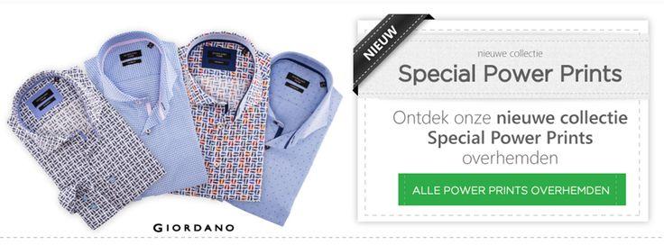 De nieuwe collectie Giordano overhemden met Power Prints is vanaf nu beschikbaar: https://www.shirtsupplier.nl/nl/zoeken/giordano+print