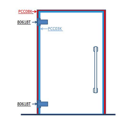 Biloba KBT8061 Self Closing Hinge Set for Steam Room Doors