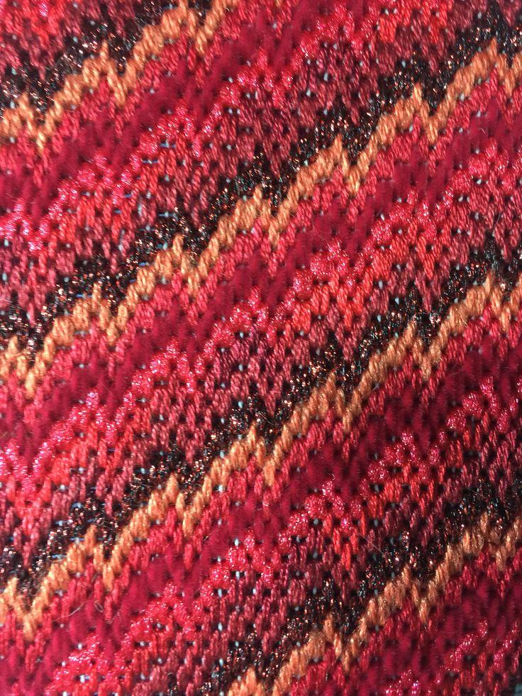 Bargello on congress cloth  Natasha's Needlepoint