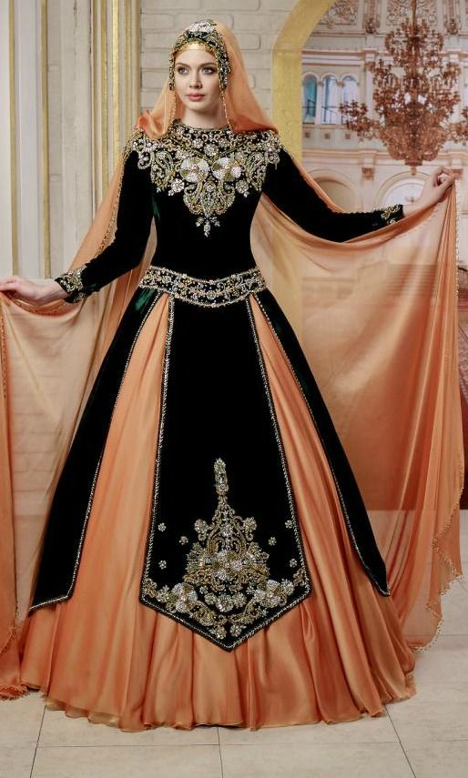Tesettür nişan/kına elbisesi