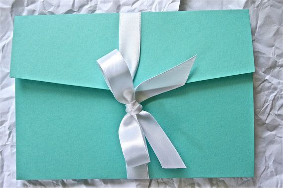 Breakfast At Tiffany's Wedding Invitations, Bachelorette Invitations, Itineraries Style 3 on Etsy, $8.50