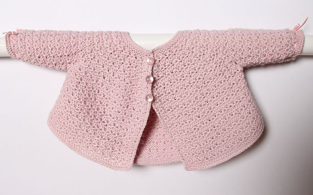 Ravelry: Baby Jacket / Instructions in English pattern by Florence Merlin