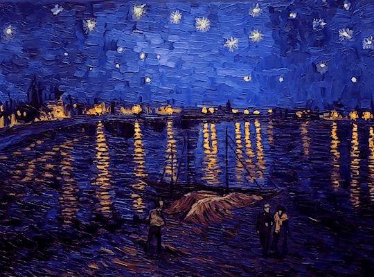 Van Gogh : la danse de Saint-Guy le soir au bord de l'eau