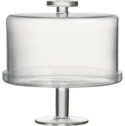 A modern twist on the classic stand and cloche.