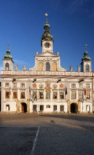 Town Hall in České Budějovice, Czechia