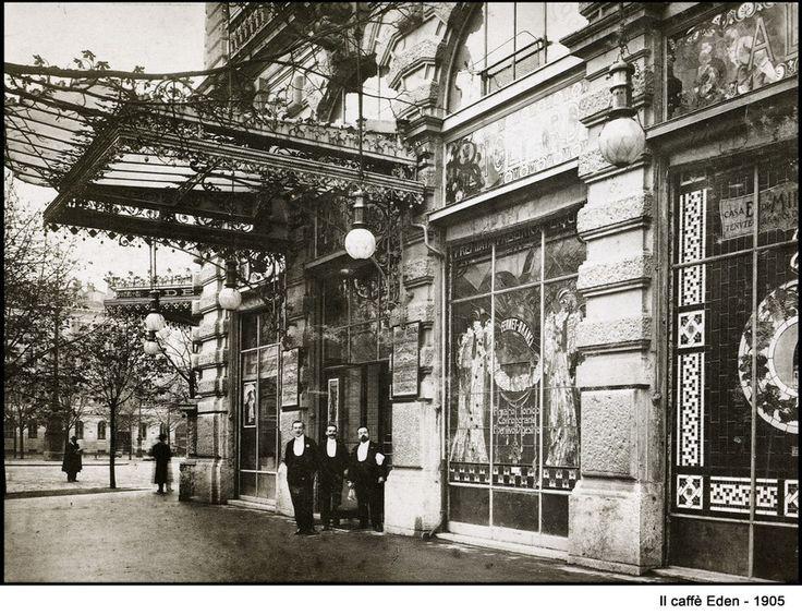 Milano Vecchia - Il Caffè Eden, 1905