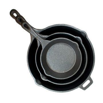 Cast Iron 3 Piece Skillet Set now featured on Fab.