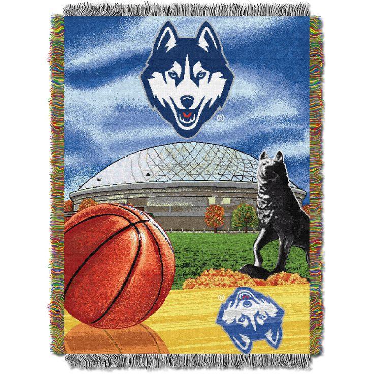 "U Conn College """"Home Field Advantage"""" 48x60 Tapestry Throw"
