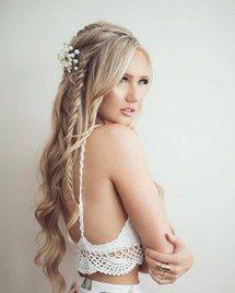 красота, светлые волосы, косы, прическа