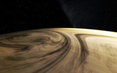 Windy planet wallpaper