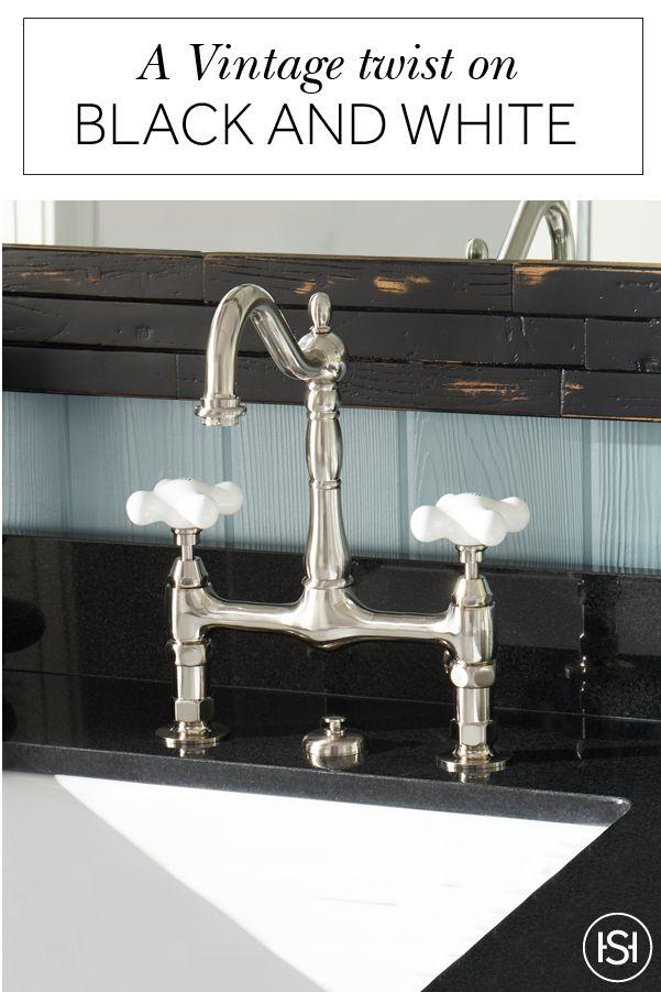 Bridge Bathroom Faucet Large Porcelain Cross Handles Oil Rubbed