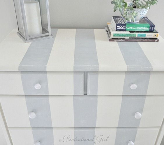 DIY Stripe Dresser