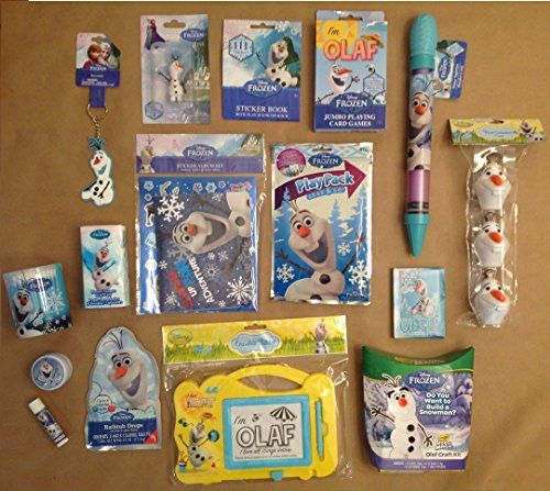 Disney Frozen OLAF Filled Plush Gift Basket : Perfect for Birthdays, Christmas, Easter, or any Special Occassion http://www.easterdepot.com/disney-frozen-olaf-filled-plush-gift-basket-perfect-for-birthdays-christmas-easter-or-any-special-occassion/ #easter  Perfect for a Boy or Girl Frozen Fan! Olaf Plush Basket filled with the following items: Olaf Plush Basket filled with the following items: Mini Figuirine, Water Squirter, Keychain, Jumbo Playing Cards, Model Magic Craft Kit, Writ..