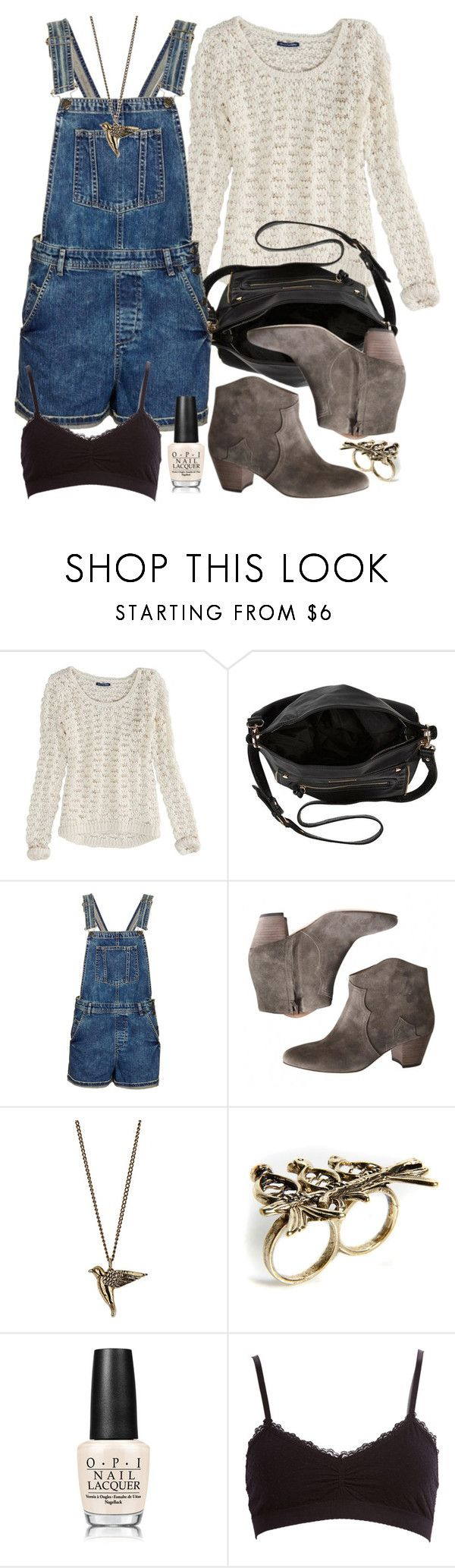 Allison Inspired Outfit with Overalls by veterization on Polyvore featuring American Eagle Outfitters, Topshop, Forever 21, Isabel Marant, River Island, Boohoo, Dorothy Perkins and OPI