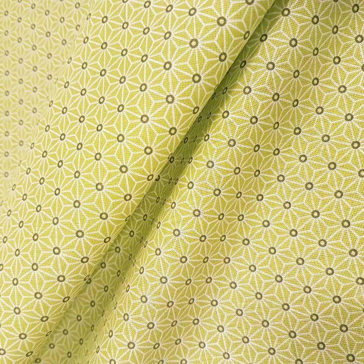 Weiteres - Stoff Baumwolle Japan Asanoha Grafik lime hellgrün - ein Designerstück von werthers-stoffe bei DaWanda