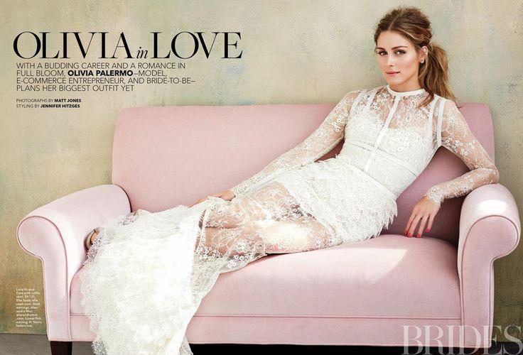 Olivia Palermo in Elie Saab Ready-to-Wear Spring Summer 2014 shot by Matt Jones for Brides Magazine June/July 2014
