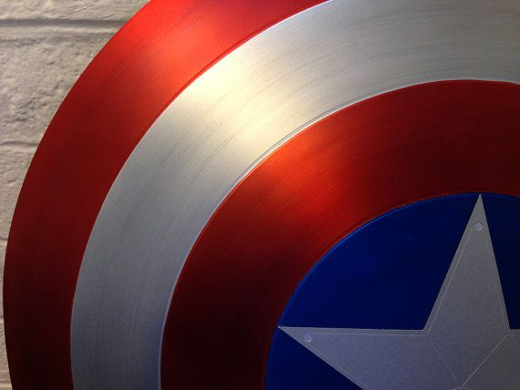 Captain America Shield Metal 1:1 FULL SCALE SATIN by MachinaProps