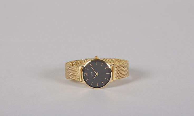 Armbanduhr Minuit Mesh Gold/Black