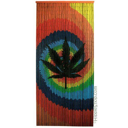 Tie Dye Pot Leaf Door Beads