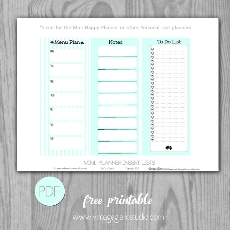 "Today, I am excited to release a new ""freebie"" printable that has a variety of checklists that will fit either personal sized planners or your Mini Happy Planner. There is a 1/2″ margin allowance for your hole punches; of course, after you print and cut out this printable. If you are a Filofax fan or … … Continue reading →"