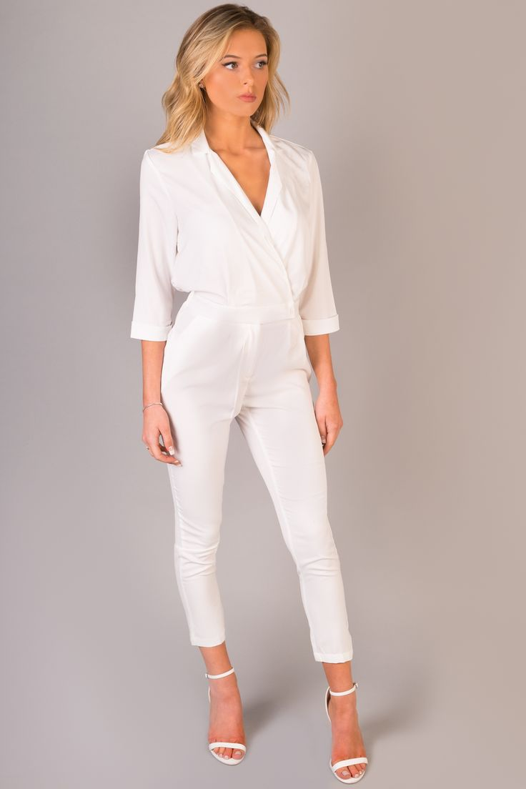 8 best Awesome White Jumpsuit Designs images on Pinterest | White ...