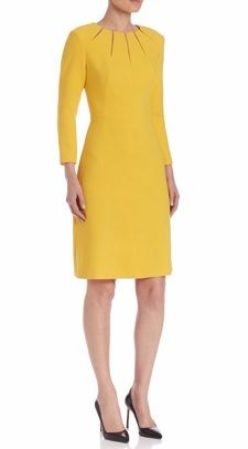 Splurge Mondays Workwear Report: Illusion Slit Wool Dress #styled247