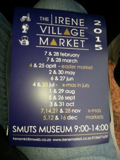 Irene Village Market dates for 2015